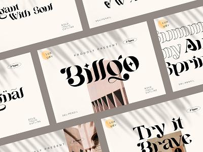 Billqo - Modern Serif Typeface luxury modern clean elegant showcase fonts font