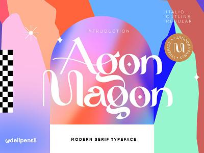Magon - Modern Serif Typeface design clean ui app website magazine homepage gradient serif font