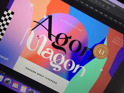 Magon - Modern Serif Typeface clean magazine poster illustration homepage ligature serif fonts font