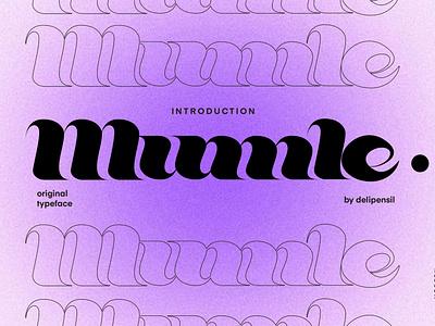 Mumle - Modern Serif Typeface gradient purple serif font