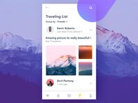 Travellist Exploration UI