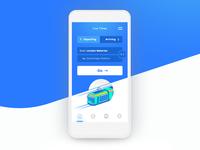 Trains App UI Home Screen