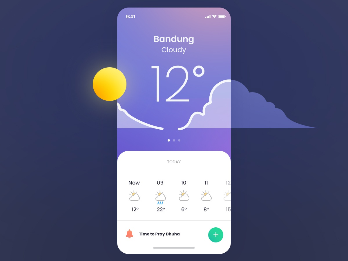 iOS Weather Exploration by Delip Nugraha on Dribbble