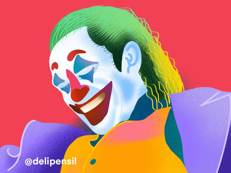 Joker Exploration Illustration smile happy card joke illusion magic illustration batman joker