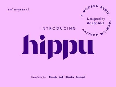 Hippu Medium Font ux ui serif lettering vector modernism serif creative modern free font design font creativemarket