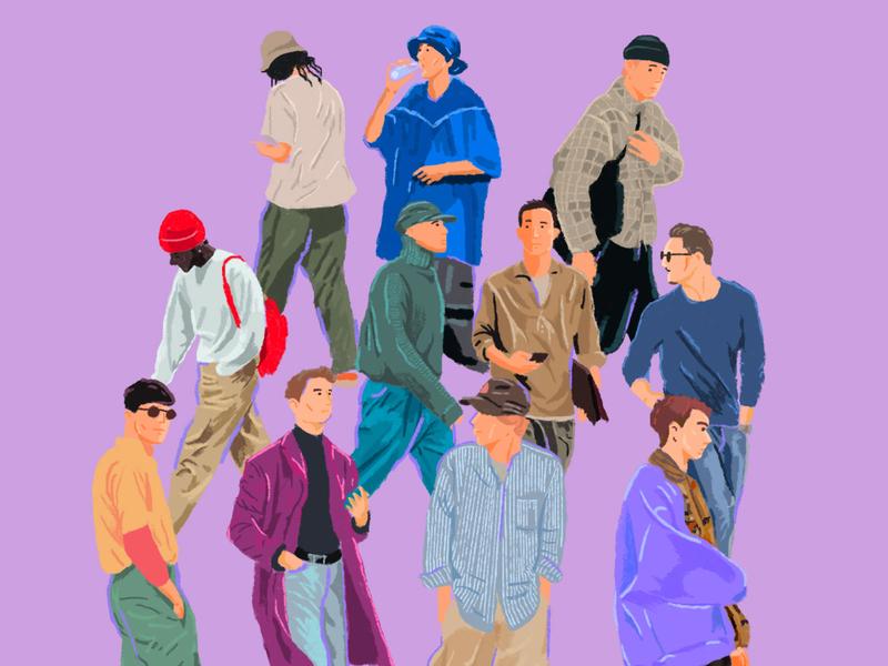 Boys Fashion Illustration brush inspiration fashion design colorfull fashion brand boys ilustration fashion