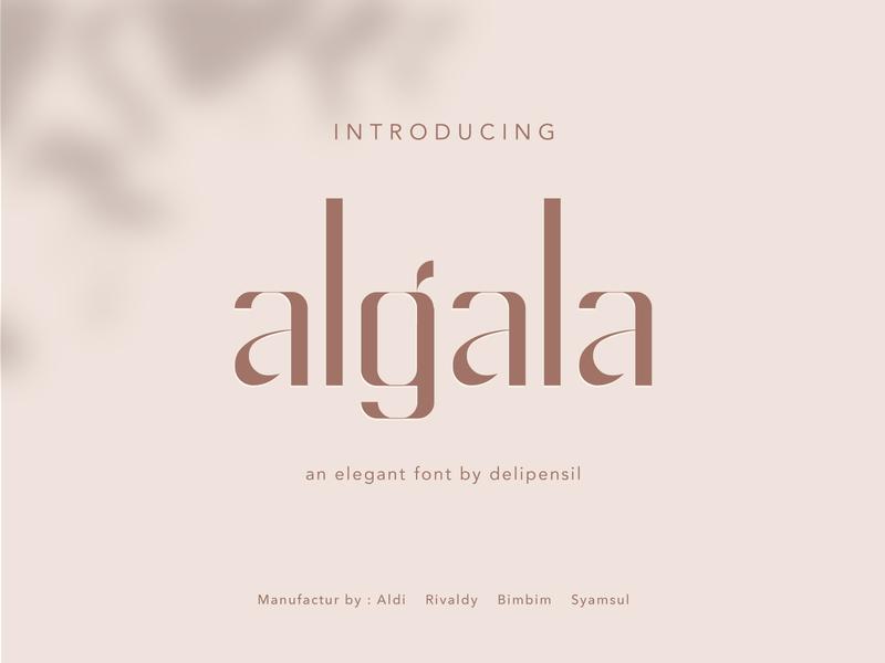 Algala Elegant Font inspiration classic clean minimalist font design fonts font