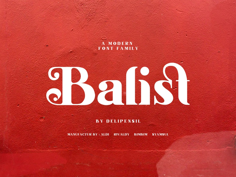 Balist - Ligature Modern Font red cool elegant font clean modern combine ligature fontself fonts