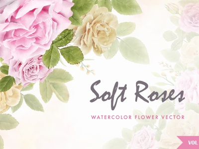 watercolor roses invitation card bundle collection