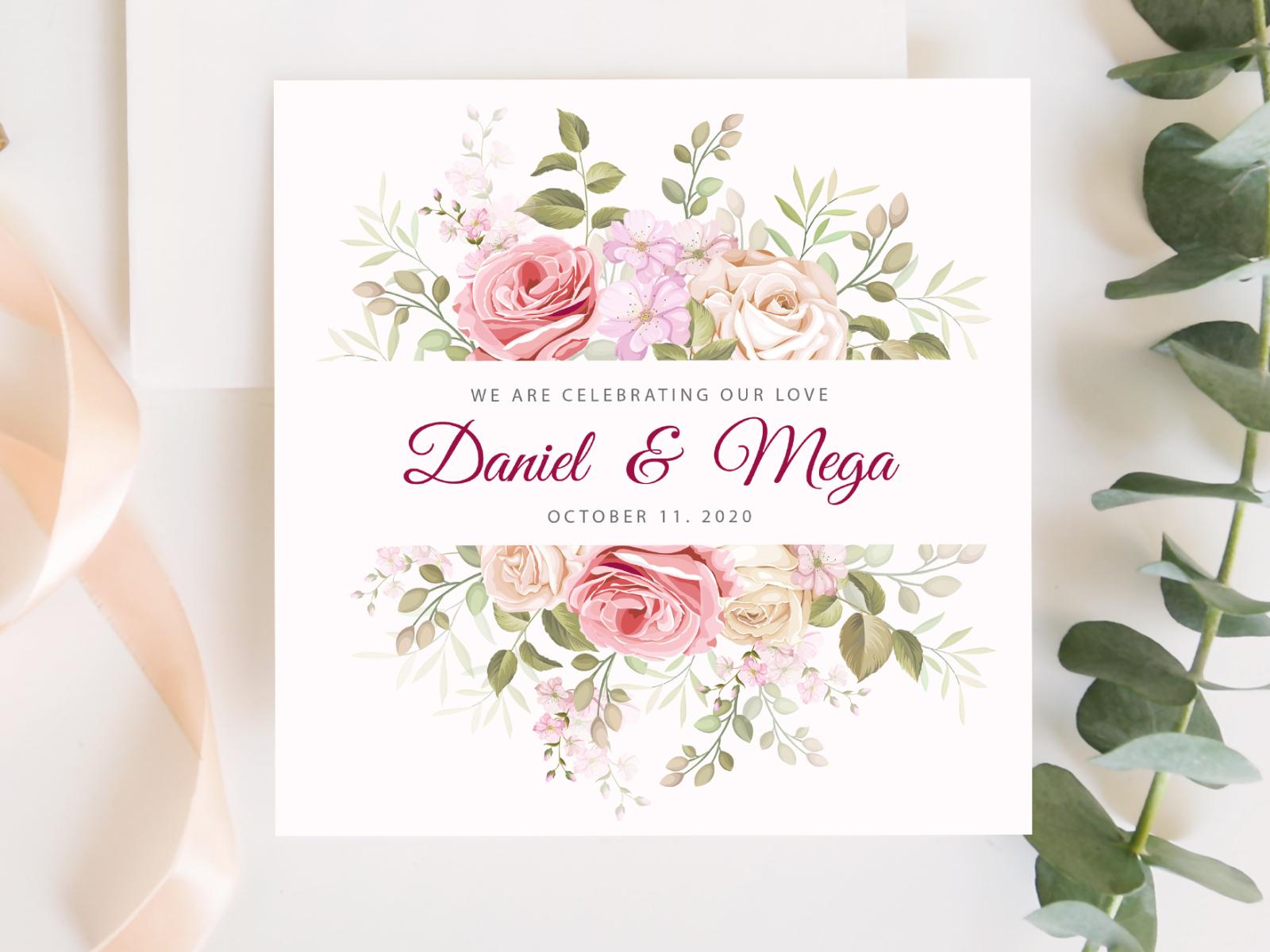 Beautiful Frame Wedding Invitation Card By Lukasdedi On Dribbble