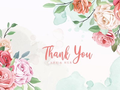 wedding invitation background with lovely roses