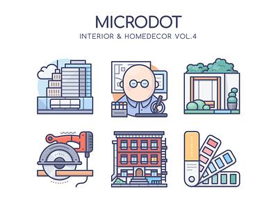 Interior Homedecor Vol.4 interior design homedecor interior graphicdesign web design vector ui illustration icon