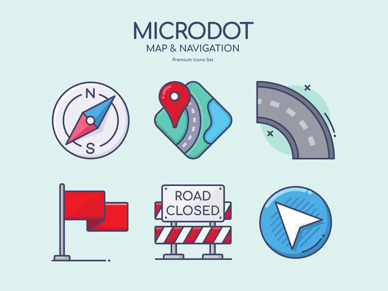 Map & Navigation map web vector ui logo illustration icon design