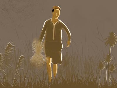 Farmer sketch artist farmer boy art drawing illustrator design character illustration