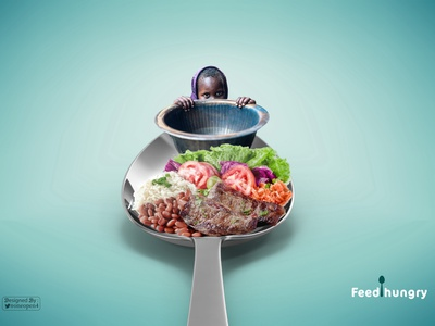 Feed Hungry eyes poor art food famine child creative advertising hungry feed