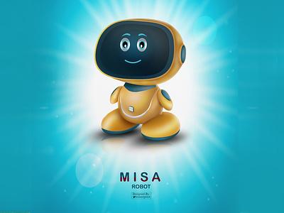 Misa Robot head heroes hero vector vector art future misa robot logo design drawing illustrator illustration illustration art