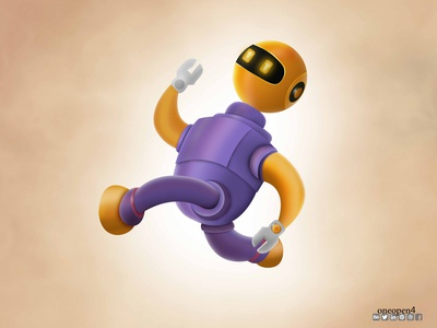 Running Robot character cartoons ranning soprt art color robotic photoshop adobe design robot drawing illustrator cartoon