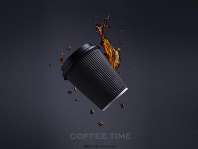 Coffee Cup creative art photography shot camera splash bean coffee bean coffee cup coffee
