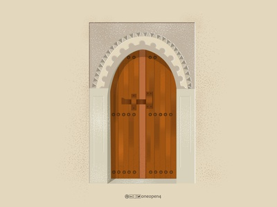 OLD DOOR ornament art design drawing illustration illustrator decoration decore door old