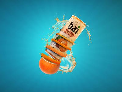 Orange Juice 3d modeling 3d drink art cinema4d splash juice orange
