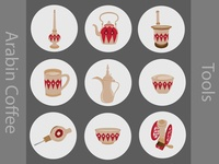 Arabin Coffee tools icons