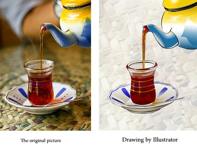 Tea cup cup of tea arabic mug illustration coffee bag coffee cup coffee