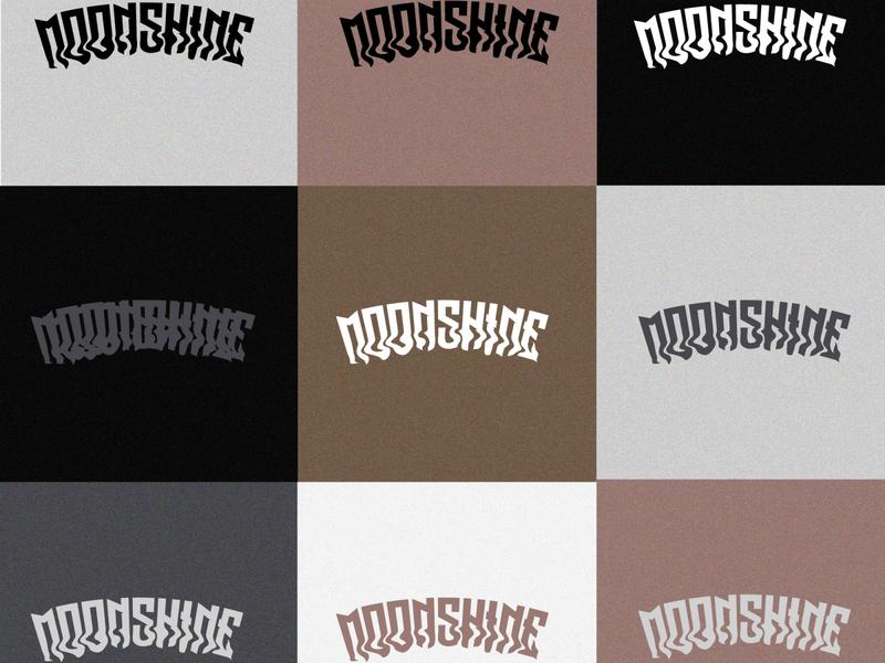 Moonshine logo branding clothing brand piercings rock diseño de logo diseñografico photoshop ai vector logo venezuela artist art
