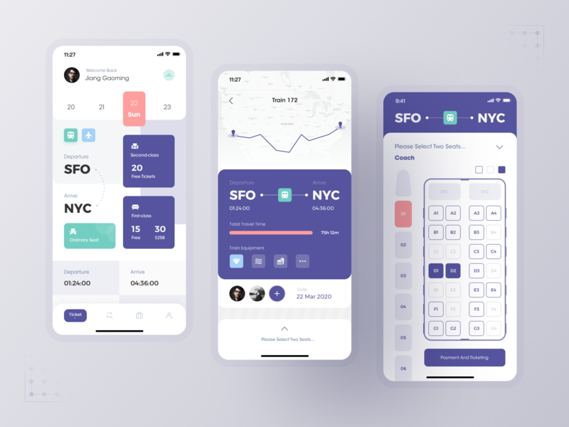 Travel Ticketing System travel interface figma mobile app mobile design app ui ux