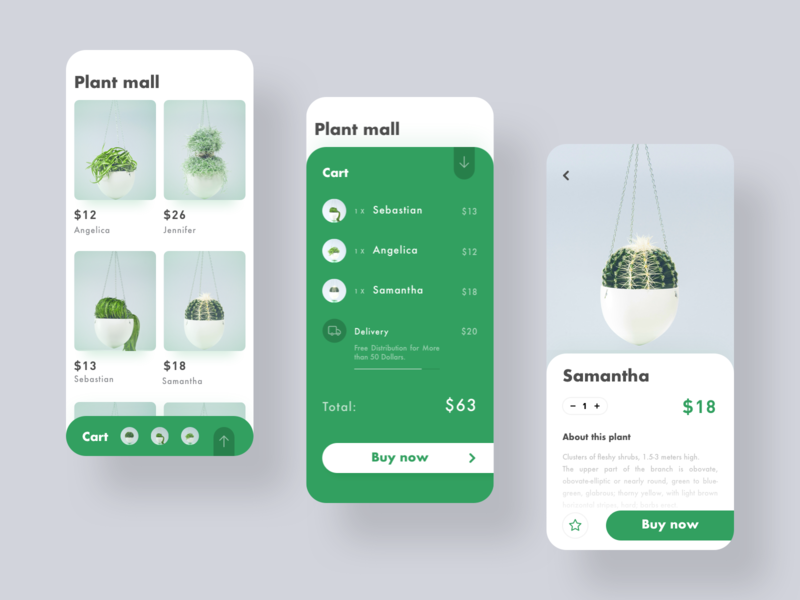Art Plant Mall app shopping plants plant green ux ui