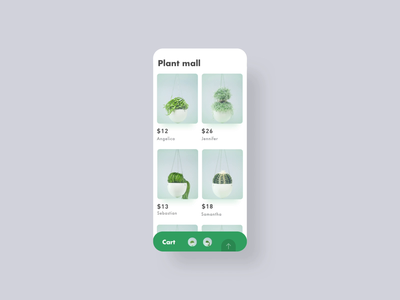 Plant mall,Interactive effect sample animation 动画 plant plants shopping design ux app ui