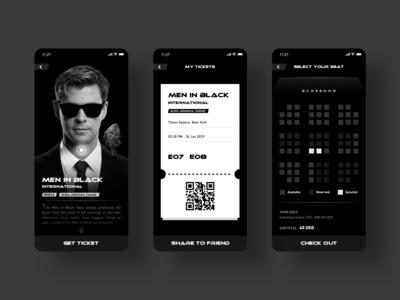Men in Black,Movie app concept design