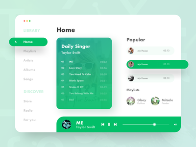 Fresh music taylor swift music art music plant green design app ux ui