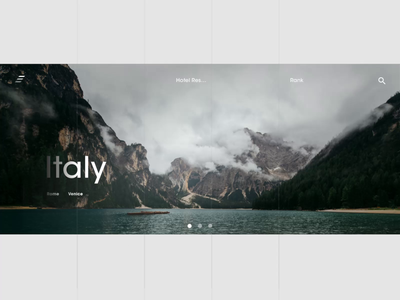 Tourism official website concept design