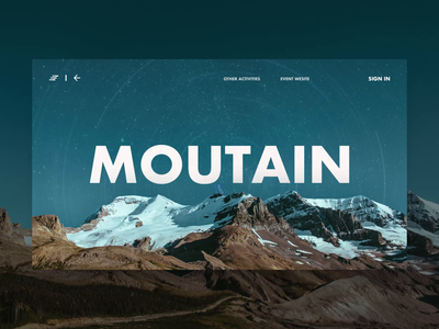 Tourism mountaineering activity page-web-animation web design mobility mountaineering tourism web animation design app ux ui
