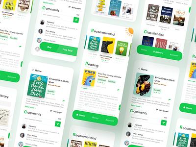Reading software-app-ux-interface-green-2 book cover book read reading list reading app green design app ux ui