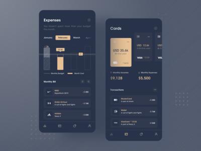 Bill management system-bank-2-Dark version