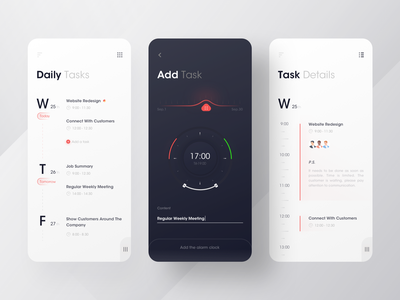 Task management system timeline plan task management manager tasks task time data data visualization branding icon black design app ux ui