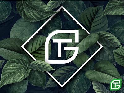 GT LETTER WITH LEAFT LOGO logo design modren logo minimalist logo professional logo creative design unique logo