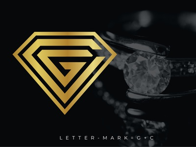 G & C WITH DIAMOND SHAPE LOGO modren logo minimalist logo professional logo unique logo creative design logotype logo design gc letter logo gc diamond diamond shape diamond