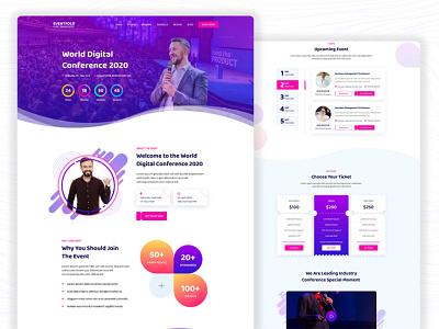 Evenfold Event Landing web ui event website event webdesigner webdesign website web adobe xd adobexd uidesign