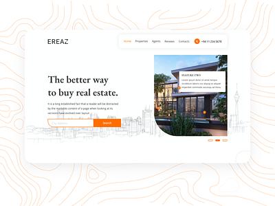 Ereaz real state ui design webdesign website xd design xd