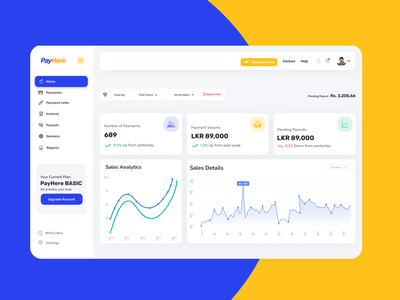 Payhere User Portal design uidesign online payment app figma dasboard webapp paypal payments finetech payphere