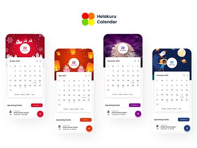 Helakuru Calendar Redesign Month View