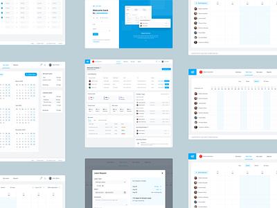 LeaveDates Dashboard Redesign uxdesign redesign uidesign admin panel design system figma hr software leave management leavedates admin dashboard ui