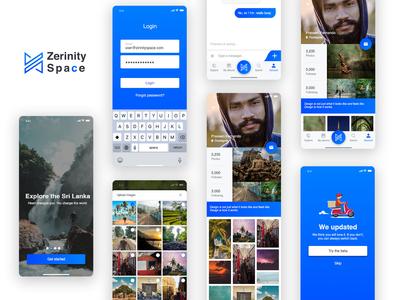 Zernity Space iOS App UI Design