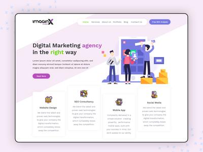 ImaginX Studio Web Ui Design