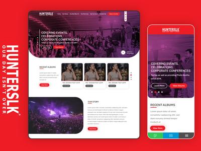 Hunterslk Web UI Design