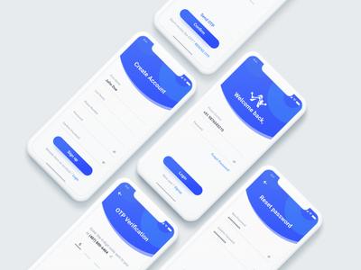 Create Account Mobile iOS Concept UI Design