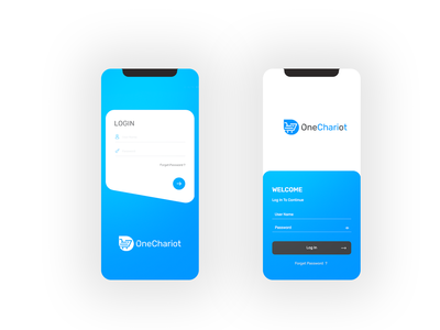 OneChariot iOS App Login Concept