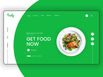 Tasty | Food Landing UI Concept